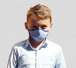 Textil szájmaszk, arcmaszk gyereknek - mosható, fertőtleníthető. Kivehető szűrőbetét.