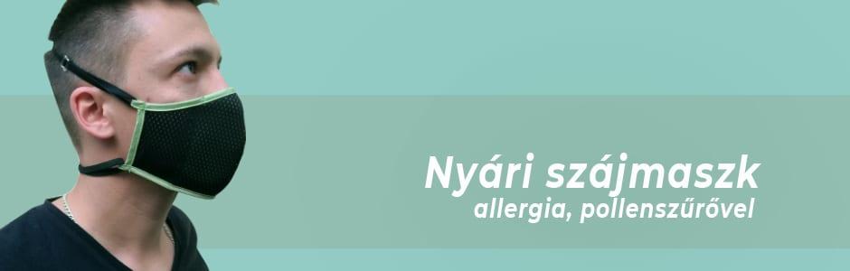 Nyári szájmaszk-allergia,pollen szűrővel