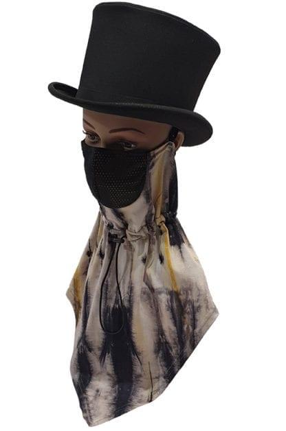 Nyakmelegítő arcmaszk, sál+maszk, kettő az egyben